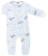 Kushies Side Zip Sleeper Making Waves Light Blue Print