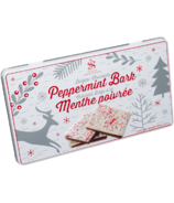 Saxon Chocolates Peppermint Bark Winter Scene Tin