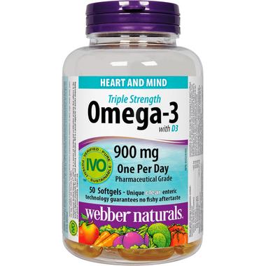 Webber Naturals Triple Strength Omega-3 Plus Vitamin D