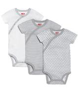 Skip Hop Petite Triangles Side-Snap Short Sleeve Bodysuit Grey