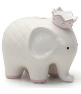 Child to Cherish Coco Elephant White & Pink Coin Bank
