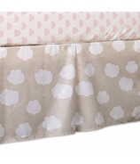 Lolli Living Bed Skirt Clouds