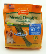 Nutri Dent Complete Dental Chews Chicken Mini Size 18 Pack
