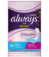 Always Dailies Thin Active Liners
