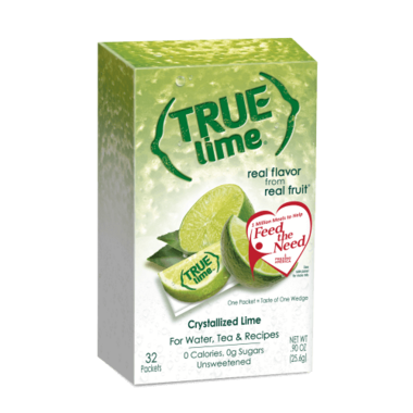 True Citrus True Lime Crystallized Lime Substitute Packets