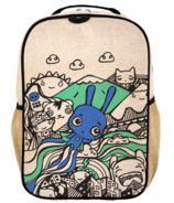 SoYoung x Pixopop Raw Linen Flying Stitch Bunny Grade School Backpack