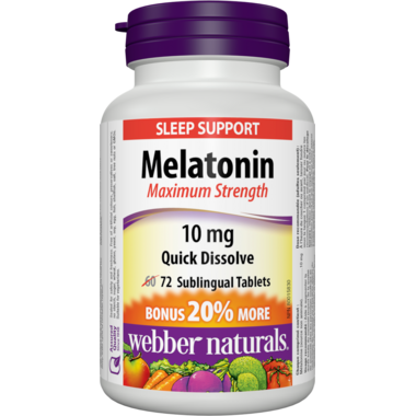 Webber Naturals Melatonin Maximum Strength