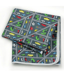 Bumkins Waterproof Splat Mat Traffic Chevron