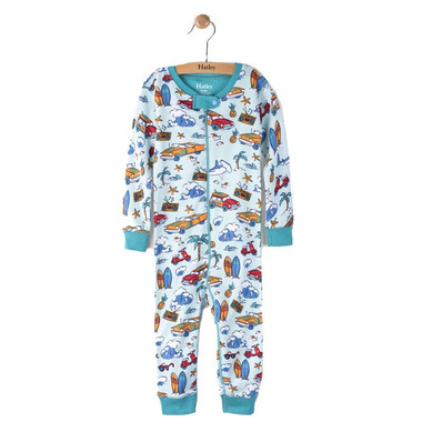Hatley Footed Coverall Surf Island