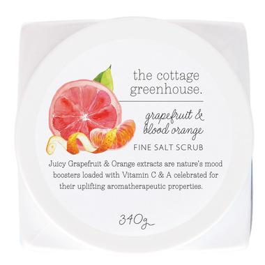 The Cottage Greenhouse Grapefruit & Blood Orange Fine Salt Scrub