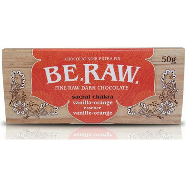 EcoIdeas Be Raw Vanilla Orange Chocolate Bar