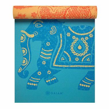Gaiam Premium Printed Reversible Yoga Mat 5 mm Elephant