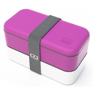 Monbento MB Original The Bento Box in Fuchsia & White