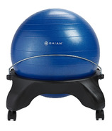 Gaiam Backless Balance Ball Chair Blue