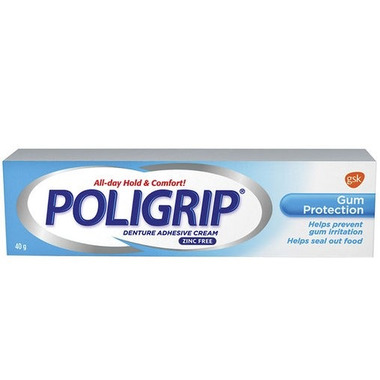 Poligrip Gum Protection Denture Adhesive Cream