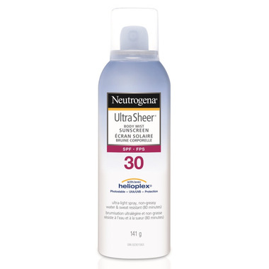 Neutrogena Ultra Sheer Body Mist SPF 30 Sunscreen Spray