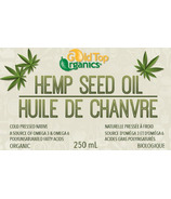 Gold Top Organics Organic Hemp Seed Oil