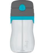 Foogo Tritan Leak Proof Straw Bottle Teal & Smoke