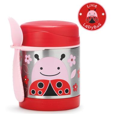 Skip Hop Zoo Insulated Food Jar Lady Bug