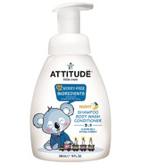 ATTITUDE Little Ones Night Almond Milk Shampoo, Body Wash and Conditioner