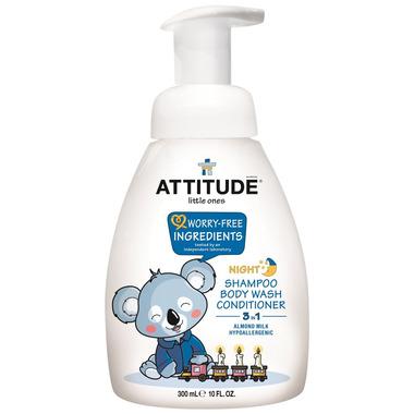 ATTITUDE Little Ones Night Almond Milk Shampoo, Body Wash and Conditioner