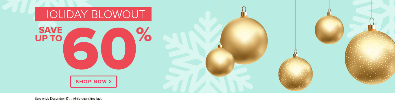 Save up to 60 on The Holiday Blowout