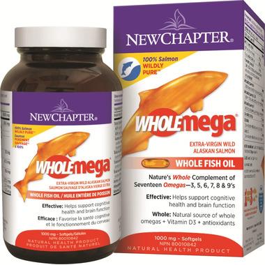 New Chapter Wholemega Extra-Virgin Wild Alaskan Salmon Oil