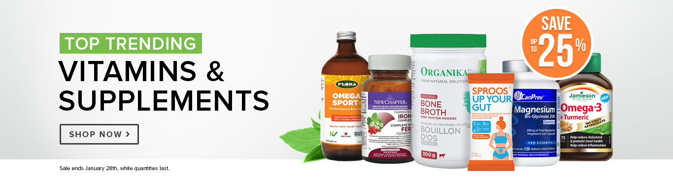 Save up to 25% on our Top Trending Vitamins & Supplements