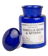 Paddywax Blue Apothecary Vanilla Bean & Myrrh Candle