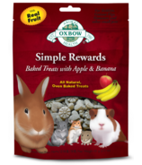 Oxbow Simple Rewards Baked Treats with Apple & Banana
