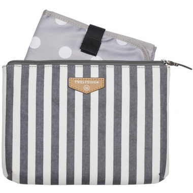 TWELVElittle Easy Diaper Pouch Grey Stripe