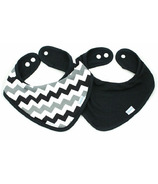 Bumkins Waterproof Bandana Bib Grey Chevron