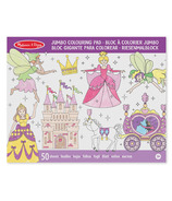 Melissa & Doug Jumbo Coloring Pad Princess & Fairy