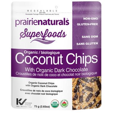 Prairie Naturals Coconut Chips with Organic Dark Chocolate