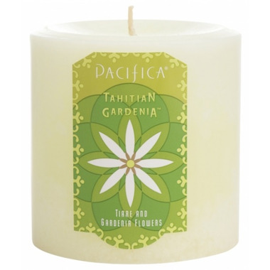 Pacifica Pillar Candle Tahitian Gardenia