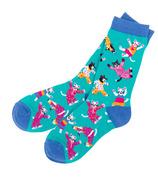 Hatley Women's Crew Socks Pajama Cats