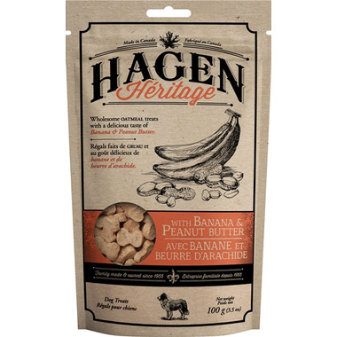 Hagen Heritage Oatmeal Dog Treats Banana & Peanut Butter