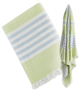 Lulujo Turkish Towel Classic Passion Green & Aqua Blue