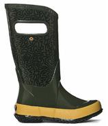 Bogs Rain Boot Maze Dark Green Mutli