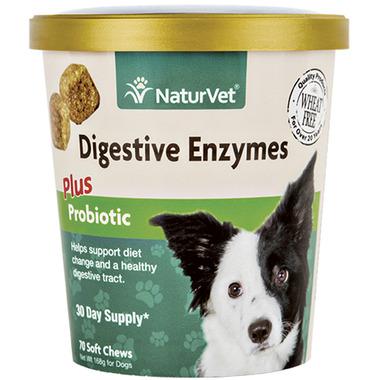 Naturvet Digestive Enzymes Plus Probiotic Soft Chews