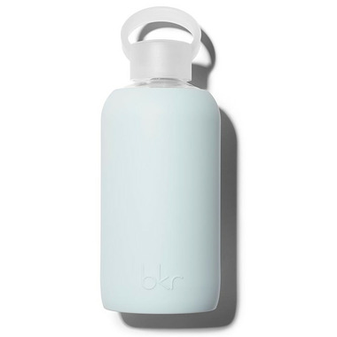 bkr Wren Glass Water Bottle Opaque Light Blue