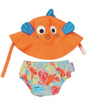 Zoocchini Swim Diaper & Sun Hat Set Fish