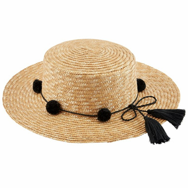 Mud Pie Hilton Pom Pom Sun Hat
