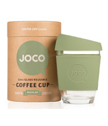 JOCO Glass Reusable Coffee Cup in Vintage Green
