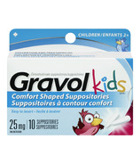 Gravol Kids Comfort Shaped Suppositories