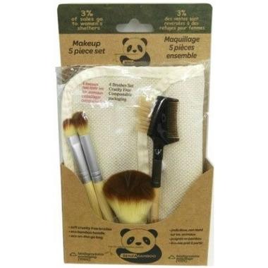 Senzacare 5 Piece Makeup Bamboo Brush Set