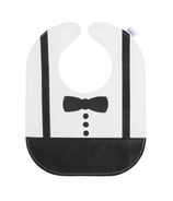 Mally Designs Bow Tie Leather Bib