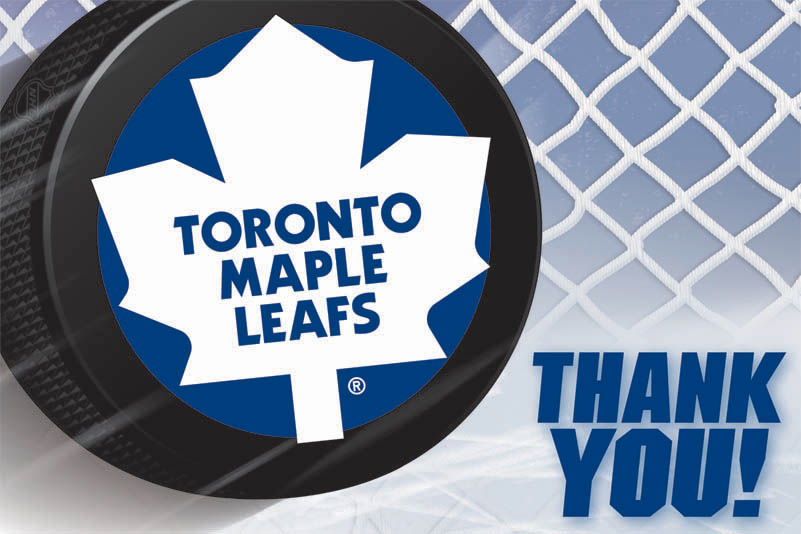 Buy toronto maple leafs party invitations thank you cards at thank you card design bookmarktalkfo Images