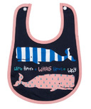 Little Blue House Infant Coated Bib Girly Whales