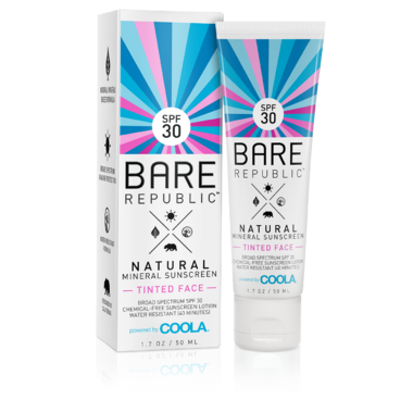 Bare Republic Tinted Mineral Face SPF 30 Sunscreen Lotion